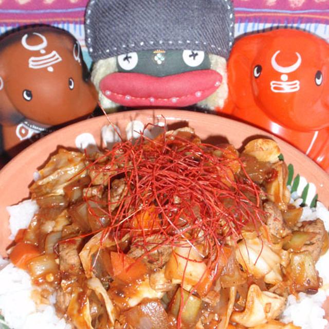 ジャージャー丼&ズッキーニとさつま芋のわさびヨーグルトサラダ(お家カフェ)