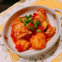 有機野菜たっぷりで鶏のトマト煮込み(o^―^o)ニコ