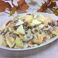 子供も喜ぶ!りんごと柿の秋のサラダ