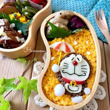 《キャラ弁》ドラえもんの梅雨のお弁当♡作り方♡モニター♡次女9歳のお誕生日