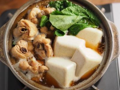 カレー豆腐と手羽元のめんつゆ鍋 、 男前豆腐レシピ