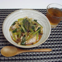 野菜の中華風あんかけ丼(Rice Bowl with Vegetable Toppings)