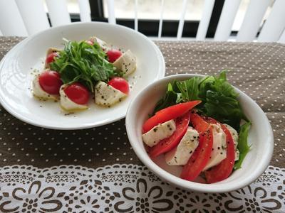 【Recipe】お豆腐カプレーゼ風サラダ