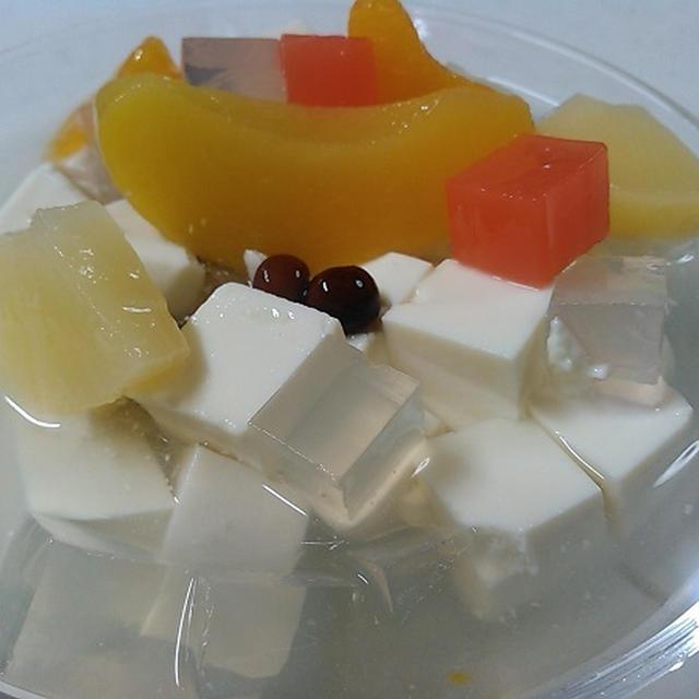 健康お豆腐レシピ91 お豆腐みつ豆