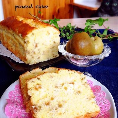本日のパウンドケーキ*簡単*梅酒パウンドケーキ