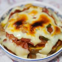ナポリタン風豆腐チーズ焼き
