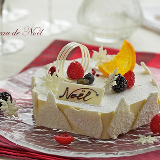 ホワイトチョコのクリスマスケーキ