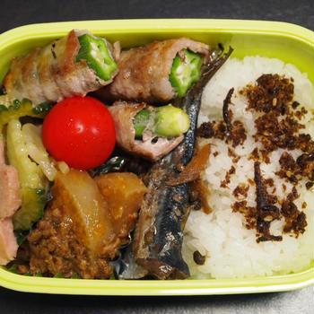 9月4日☆今日のお弁当は、オクラの豚肉巻き弁当