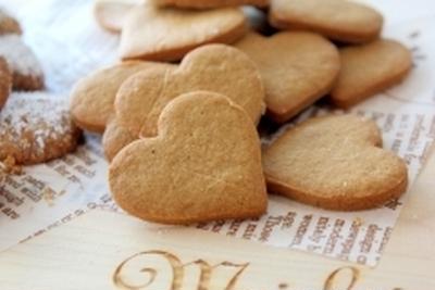 HMとピーナッツクリームの型抜きクッキー