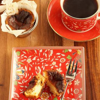 【お気に入りレシピ】一口バスクチーズケーキ