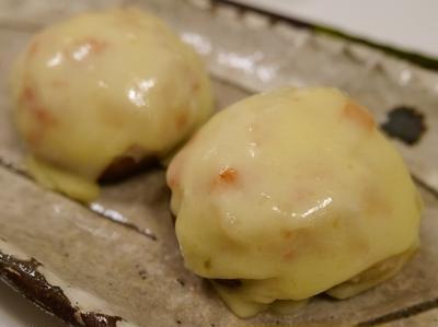 ★ シイタケかにカマしんじょチーズ焼き