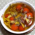 ミニトマトと舞茸のアヒージョ