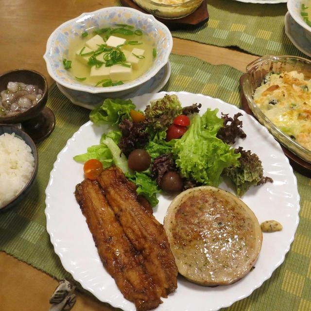 秋刀魚の蒲焼やら無国籍な晩ご飯 と 珍しい花たち♪