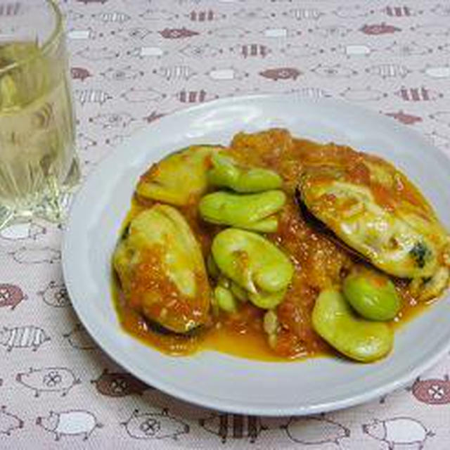 ☆そら豆とムール貝のトマト煮☆