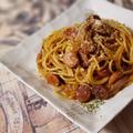 【パスタレシピ】カレールウで簡単!ソーセージと玉ねぎのカレーパスタ