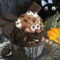 簡単かわいいハロウィン★キョロキョロ目玉のチョコカップケーキ