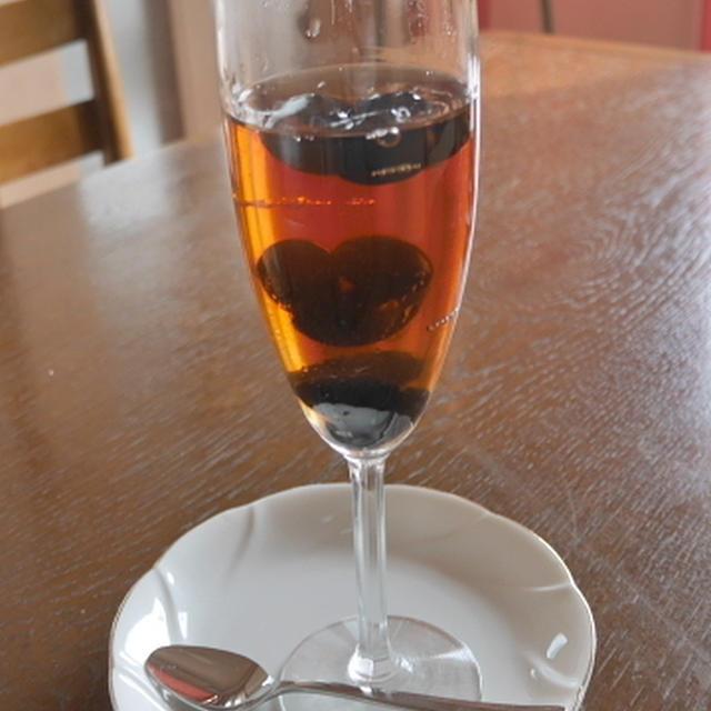 紅茶と黒豆のゼリー