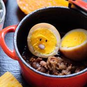 薄切り豚ロースの煮込みと煮卵