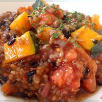 雑穀とかぼちゃのトマトリゾット