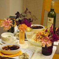 【うちレシピ】炒めるだけ★白菜の簡単クリームシチュー / 【参加中♪】花と料理で楽しむ♪ハッピーハロウィン