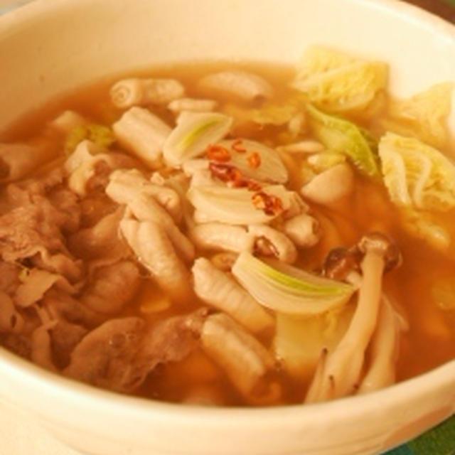 にんにくたっぷりモツスープ