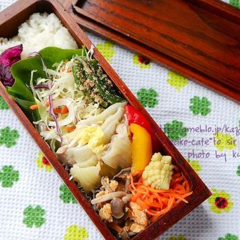 カフェ弁☆白菜と豚肉のミルフィーユ弁当