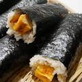 はみ出したまごの丸かぶり寿司