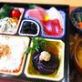 忙しい日のお刺身定食!! レシピは「茶せんナス」