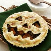かぼちゃときのこのジャック・オ・ランタン・パイ