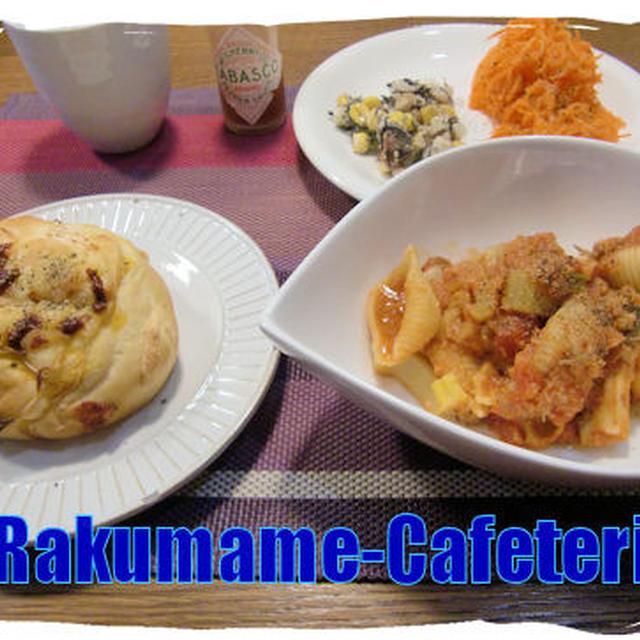 週末パスタ定食♪(カニ缶を食べよう週間♪)
