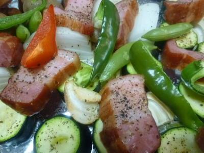 ベーコンDEお野菜とオーブン焼き★