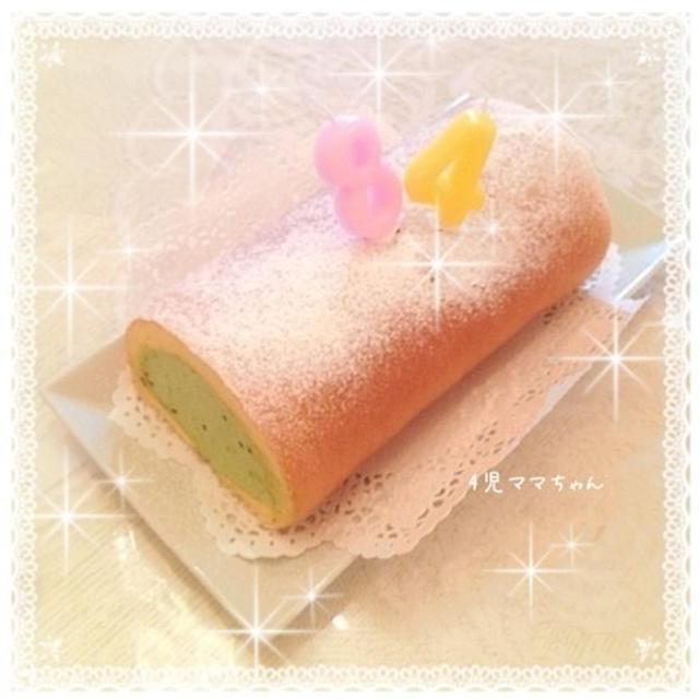 簡単・抹茶クリームの和風ロールケーキ☆レシピ
