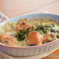 鮭と長芋の ふわとろ♪豆乳グラタン