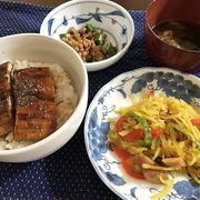 土用の丑の日の夕食&冷たいお弁当