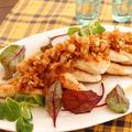 鶏ささみの柔らか焼き~オニオン胡麻ソース