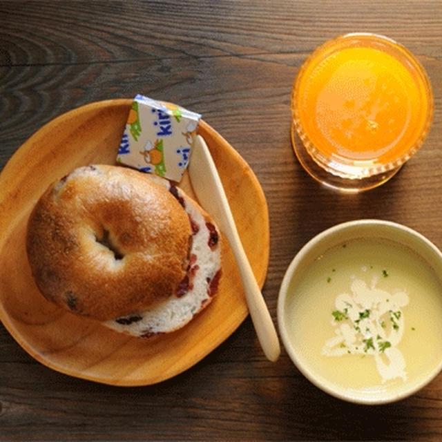 ベーグルとポテトスープ (レシピあり)