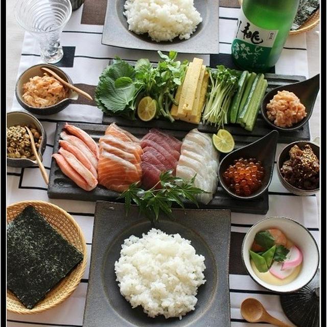 巻いて巻いて~手巻き寿司~♪