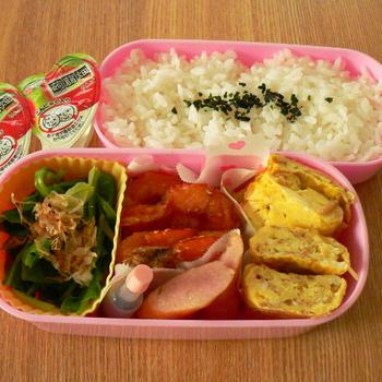 お弁当、と、こまち麺発見!(米粉麺)