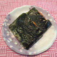 おこげ醤油の焼き海苔餅
