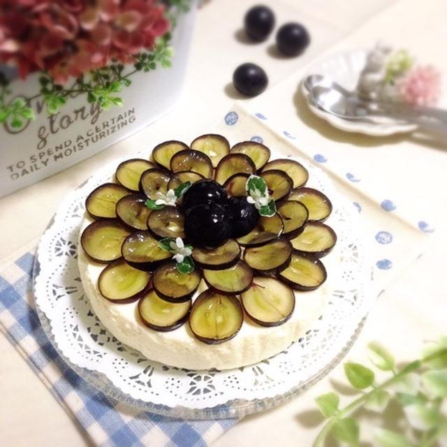 【レシピ】葡萄のお花♡レアチーズケーキ♪