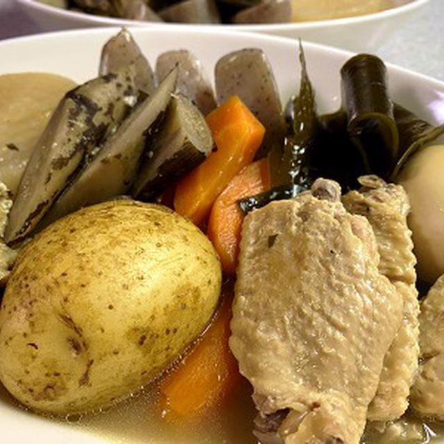 鶏手羽中と根菜の煮物&カルミアを地植えして♪