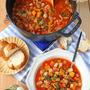 白菜ダイコンかぼちゃ冬のミネストローネ♪作り置きスープ
