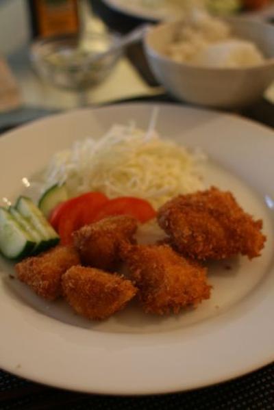 サーモンフライ定食