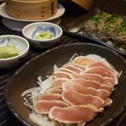 竹庭・清正の湯とお約束の鶏たたき・塩麹ディップ