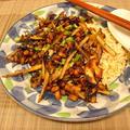 納豆、ひじき、ごぼうの和風ドライカレー
