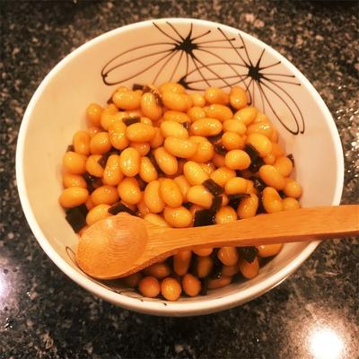 圧力鍋で簡単!時短!蒸した大豆の煮豆(定番の和惣菜)レシピあり