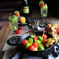 芽キャベツ、トマト、モッツアレラ イタリアンカラーの春アヒージョ と フルーツスパークリングワイン by 青山 金魚さん