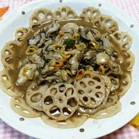 レンコンと牡蠣のオイスターソース炒め煮