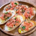 風味と酸味が美味しい「トマトとバジルのブルスケッタ」&「スマホシャッターは便利なのかな」