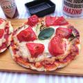 罪悪感なし、おからとキャベツとトマトのピザ